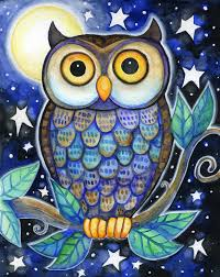 Drawn Owl Color Pencil And In Color Drawn Owl Color Owl Coloring Ideas