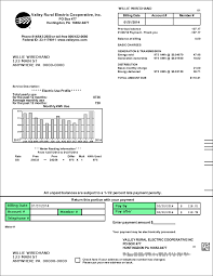 residential bill valley rural electric cooperative inc