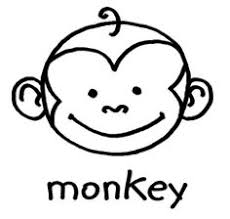 monkey crafts how to draw an easy monkey step by step forest