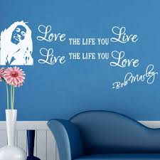 wall decor kasen love the life you live vinyl wall sticker wall art home decal decor white