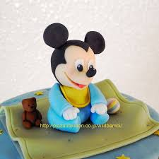 adorable baby mickey mouse cake between the pages