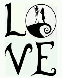 jack skellington and sally nightmare before christmas love car