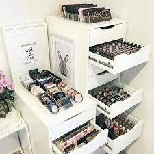 Makeup Vanity Storage Ideas Best 25 Makeup Organization Ideas On Pinterest Makeup Storage