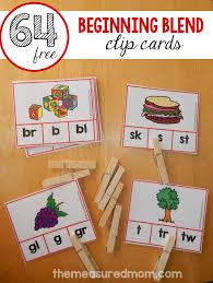 free clip cards for beginning blends activities beginning