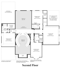 2nd Floor Addition Plans Town Lake At Flower Mound The Sandhurst Home Design