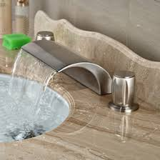 Cheap Vessel Faucets Discount Vessel Waterfall Faucets Brushed Nickel 2017 Brushed