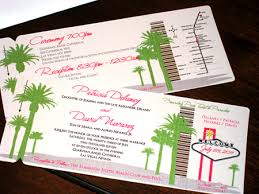 vegas wedding invitations boarding pass wedding invitations boarding pass save the date