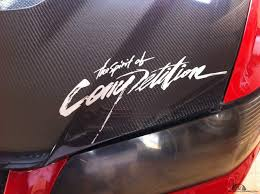 mitsubishi sticker the spirit of competition ralliart reflective sticker inspira