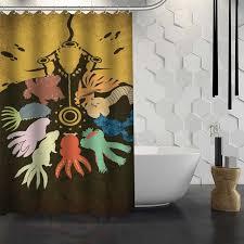Waterproof Fabric Shower Curtains Custom Naruto Anime Shower Curtain Waterproof Fabric Shower