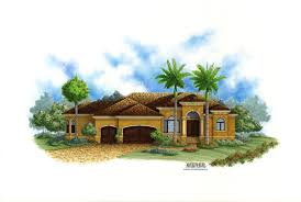 spanish house plans mediterranean style greatroom courtyard lido bay ii house plan