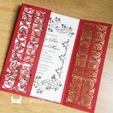 Red Wedding Invitations Lace Wedding Invitations Free Shipping