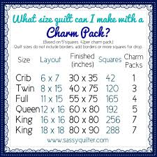 helpful charts the sassy quilter