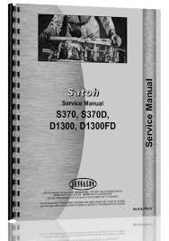 satoh s370 s370d tractor service manual tractors pinterest