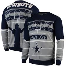 cowboys sweater dallas cowboys stadium light up sweater navy fanatics com