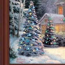 thomas kinkade lighted pictures thomas kinkade victorian family christmas lighted canvas print
