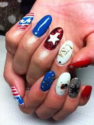 fourth of july nail art and toe nail designs