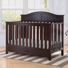 Espresso Convertible Crib by Delta Children Bennington Elite Curved 4 In 1 Convertible Crib Dark Espresso Jpg