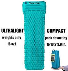 sleeping pad by hikenture camping inflatable air mattress with