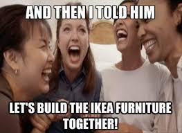 Build A Meme - and then i told him let s build the ikea furniture together