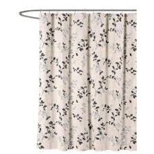 Charcoal Shower Curtain Creative Home Ideas Meridian Printed Cotton Blend 72 In W X 72 In