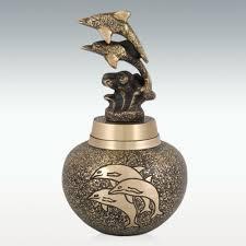 Dolphin Vase Dolphins Brass Keepsake Cremation Urn