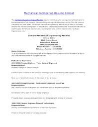 Basic Resume Template Pdf Automobile Resume Samples Mechanical Engineer Format Engineering