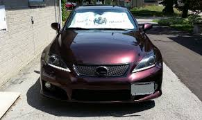 lexus isf silver first lexus isf in 3m blackrose vinyl wrap by ck wraps youtube