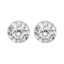 illusion earrings diamond diamond exchange 50ct diamond studs 699 99