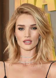 rosie huntington side parted lob pin by amanda whalen on my style pinterest hair style