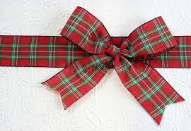 plaid christmas plaid christmas bow stock image image of 7511885