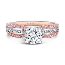 pink gold engagement rings 18k and white gold pink and white diamond spl