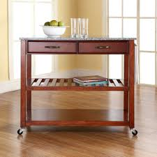 Narrow Kitchen Cart by Furniture Exquisite Drawer Storage Red Wood Kitchen Rolling Cart