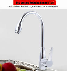 alloy 360 degree single hole double control touch kitchen tap