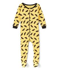 leveret yellow bat footie pajamas infant zulily