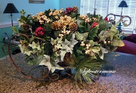 how to make a sleigh centerpiece crafting with
