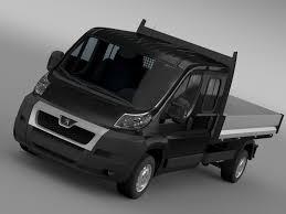 peugeot models australia peugeot boxer crew cab truck 2009 2014 3d model cgtrader
