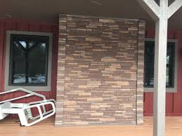 exterior exteria stacked stone faux brick backsplash lowes