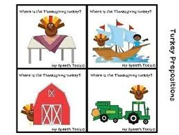 thanksgiving activities for speech therapy pk 2nd grade by my