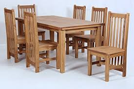 Waxed Pine Dining Table Salto Dining Table And Six Chairs Dining Set Rustic Solid Wood Wax