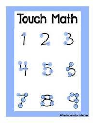 free touch math numbers clip art 1 9 free math fun