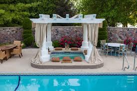 poolside designs bohemian outdoor poolside patio designs