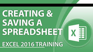 What Is A Spreadsheet Software Excel 2016 Tutorial How To Create And Save A Spreadsheet Using
