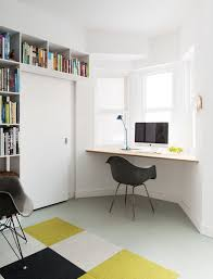 Space Saving Home Office Furniture Space Saving Home Office Ideas With Black Chair And Sleek Wooden