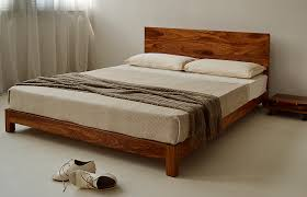 Low Double Bed Designs In Wood Bed With Low Headboard Home Design Ideas