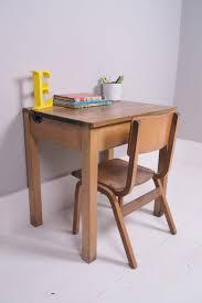 cherry wood kids desk childrens vintage wooden desks blue ticking inside kids wood