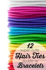 creaseless hair ties 12 hair ties that as bracelets tipsaholic