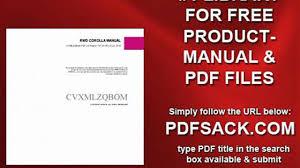 rwd corolla manual video dailymotion