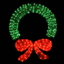 green lights and led on white wire with