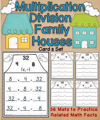 math fact families multiplication division 31 best relating multiplication to division images on