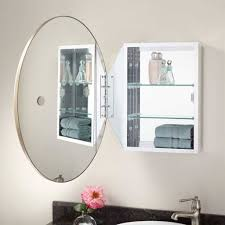 bathroom excellent oval bathroom mirror cabinet wall mounted